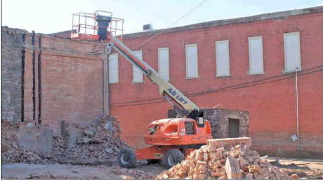 Ennis Avenue eyesore excavated this week